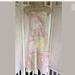 Lilly Pulitzer Strapless Dress Fit & Flare Lined